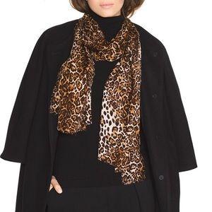 WHBM Leopard Cheetah Soft Lightweight Spring Scarf